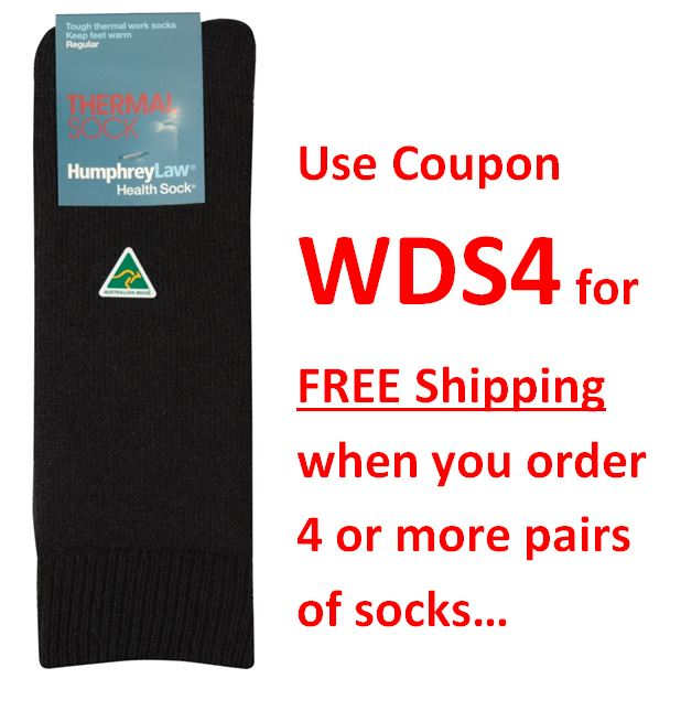 XHF_009 Humphrey Law Thermal Sock Black coupon