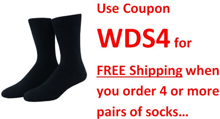 Bamboo Sock value 2 pack Sock WDS4 free shipping coupon code